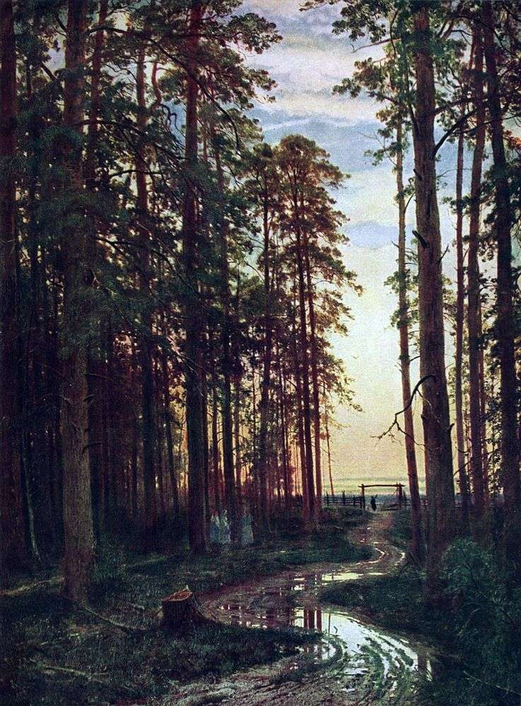 Evening in the Pine Forest by Ivan Shishkin