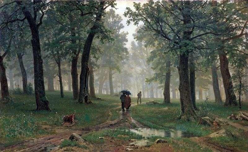 The rain in the oak forest by Ivan Shishkin
