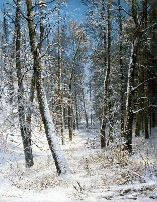 Winter in the Forest (Hoarfrost) by Ivan Shishkin