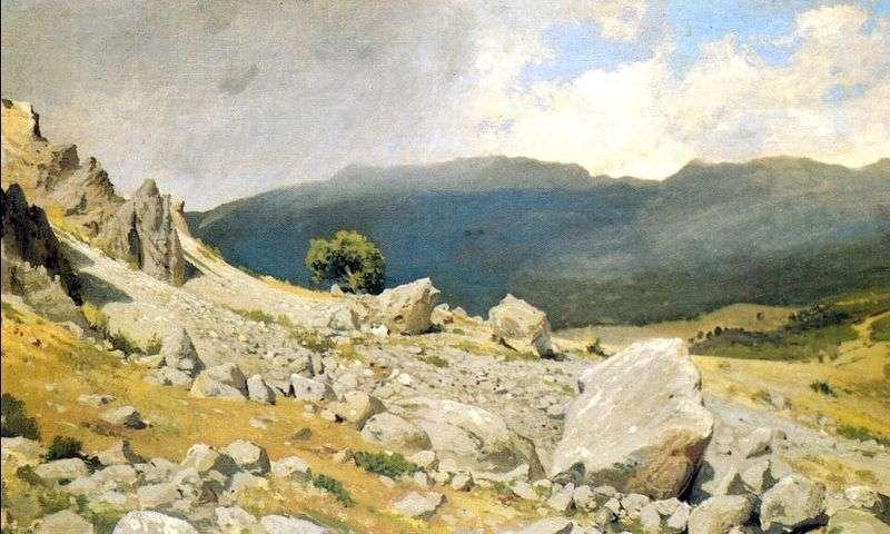 From the vicinity of Gurzuf by Ivan Shishkin