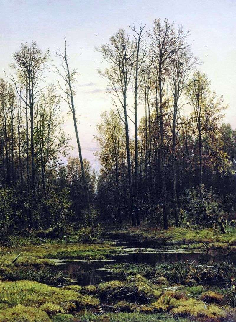 Forest in the spring by Ivan Shishkin
