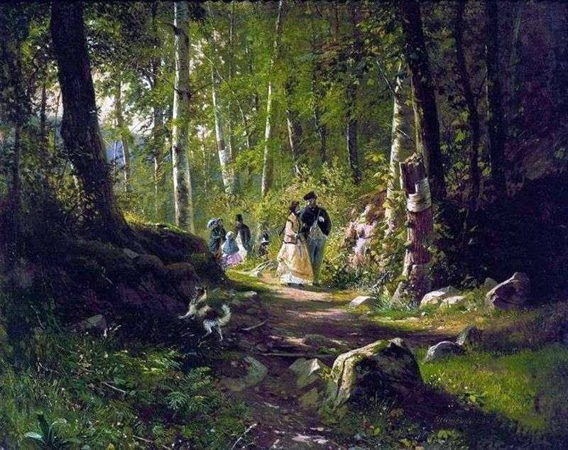 Walk in the forest by Ivan Shishkin