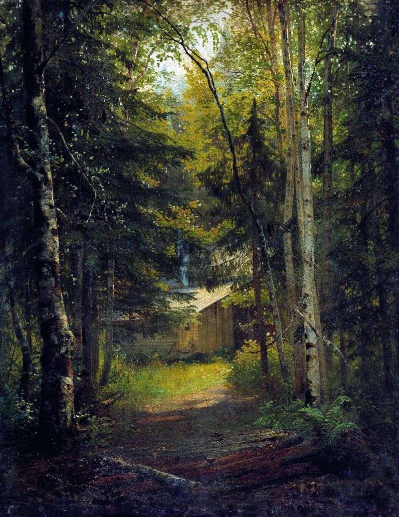 The lodge in the forest by Ivan Shishkin