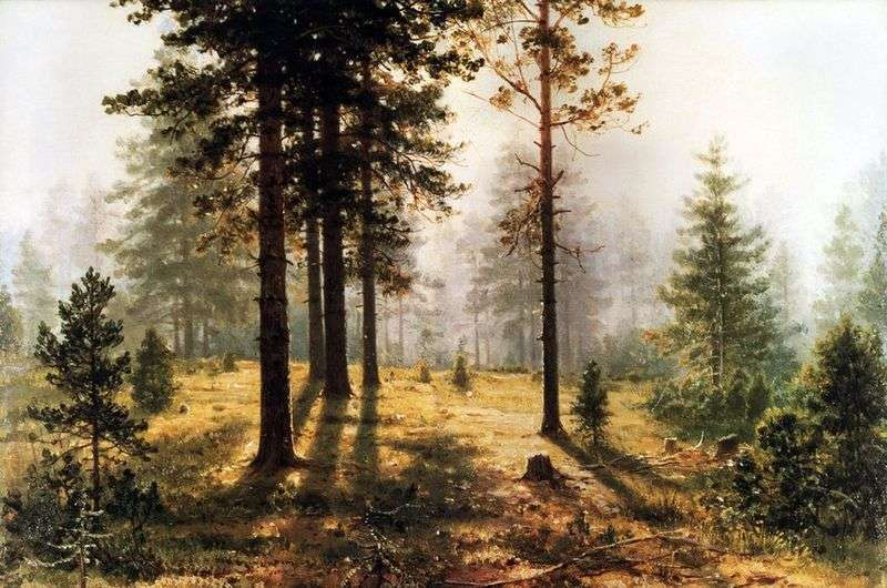 Fog in the forest by Ivan Shishkin