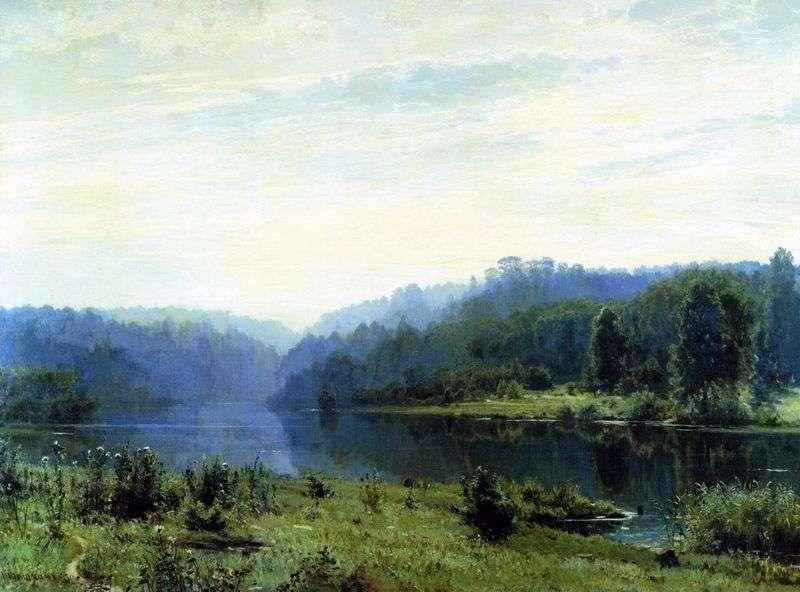 Foggy morning by Ivan Shishkin