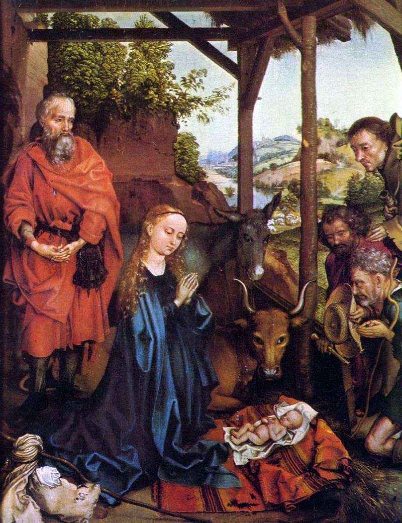 The Adoration of the Shepherds by Martin Schongauer