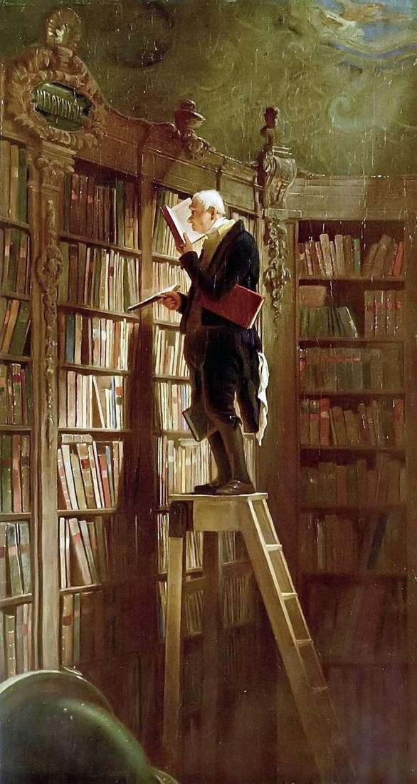 Bookworm by Karl Spitzweg