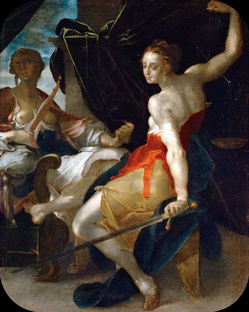 Allegory of Justice by Bartholomeus Spranger