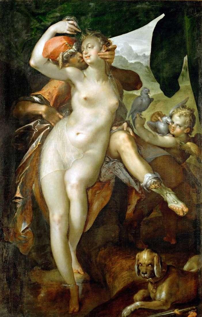 Venus and Adonis by Bartholomeus Spranger