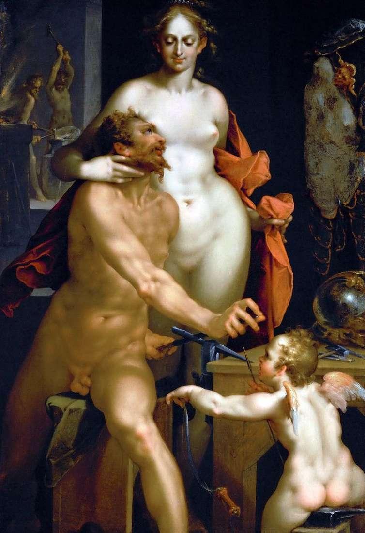 Venus and Vulcan by Bartholomeus Spranger