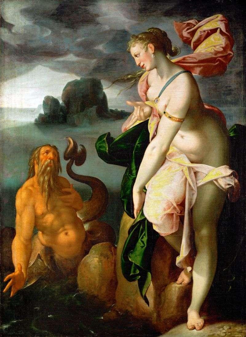 Glaucus and Scylla by Bartholomeus Spranger