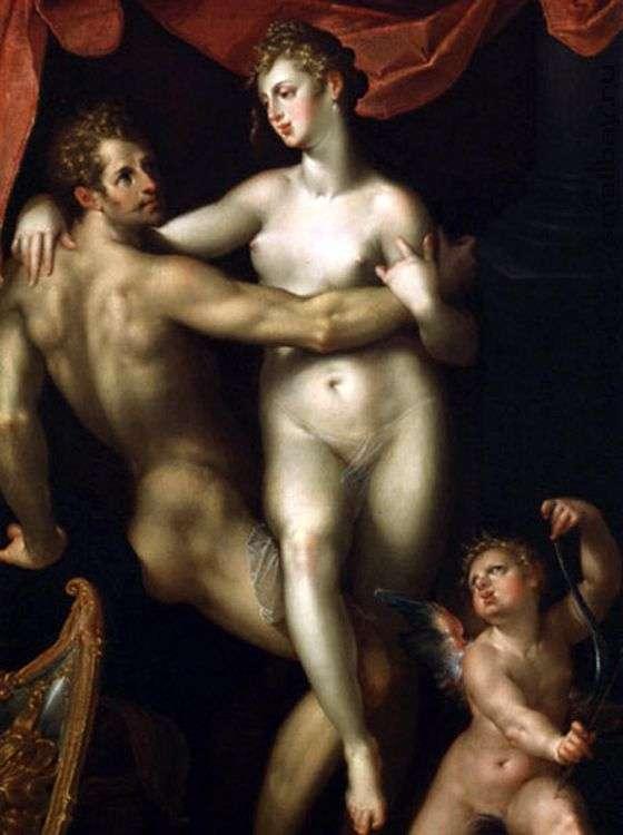 Mars, Venus and Cupid by Bartholomeus Spranger