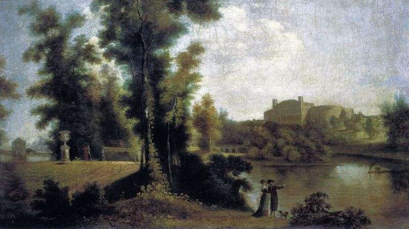 View of the Gatchina Palace from the Long Island by Semen Shchedrin