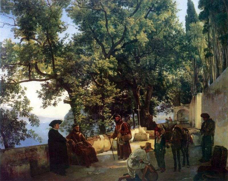 Cappuccini near Sorrento by Sylvester Shchedrin