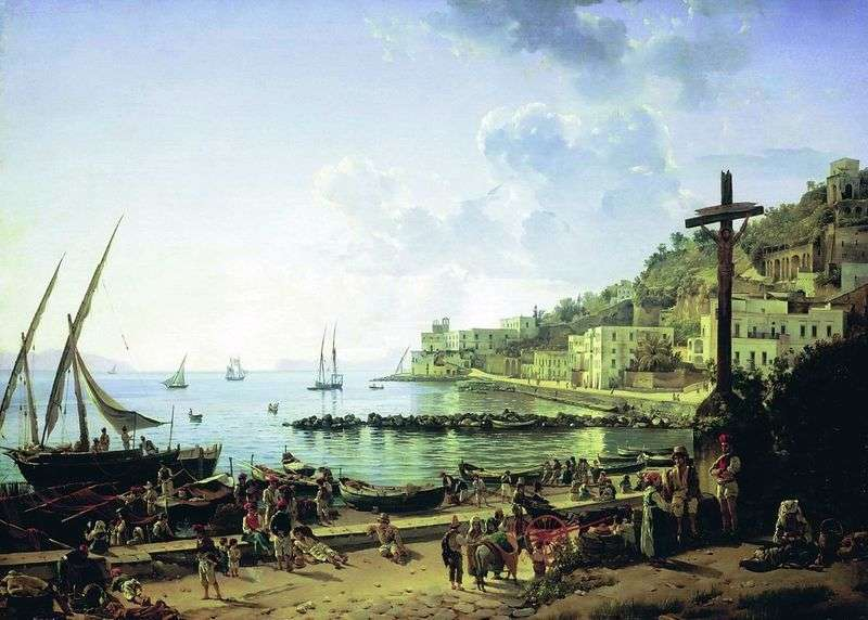 Embankment of Mergellina in Naples by Sylvester Shchedrin