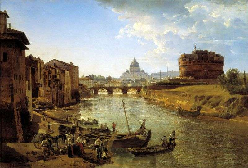 New Rome. The Castle of the Holy Angel by Sylvester Shchedrin
