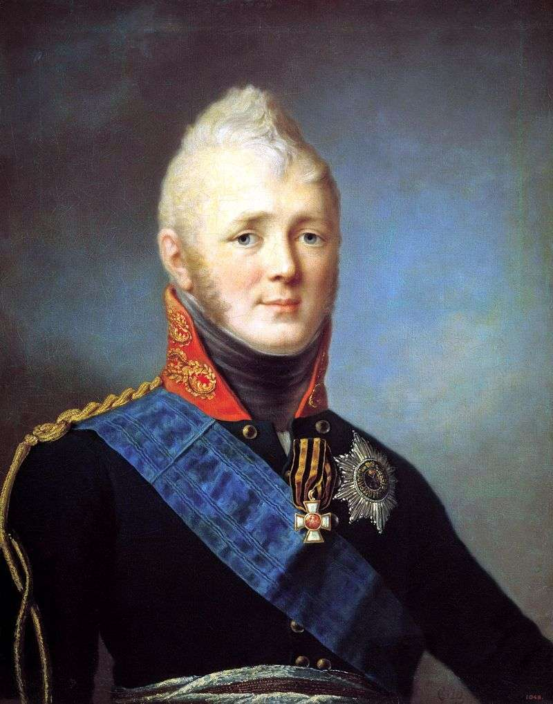 Portrait of Alexander I by Stepan Shchukin