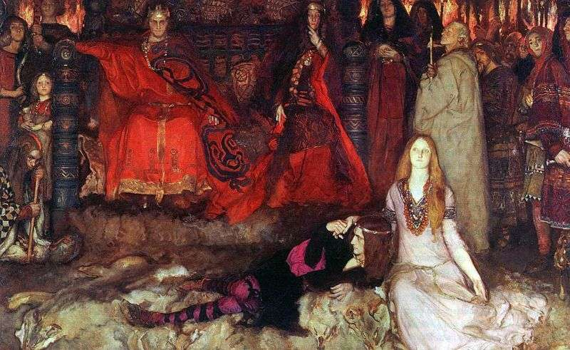 Hamlet plays the scene by Edwin Austin Abby