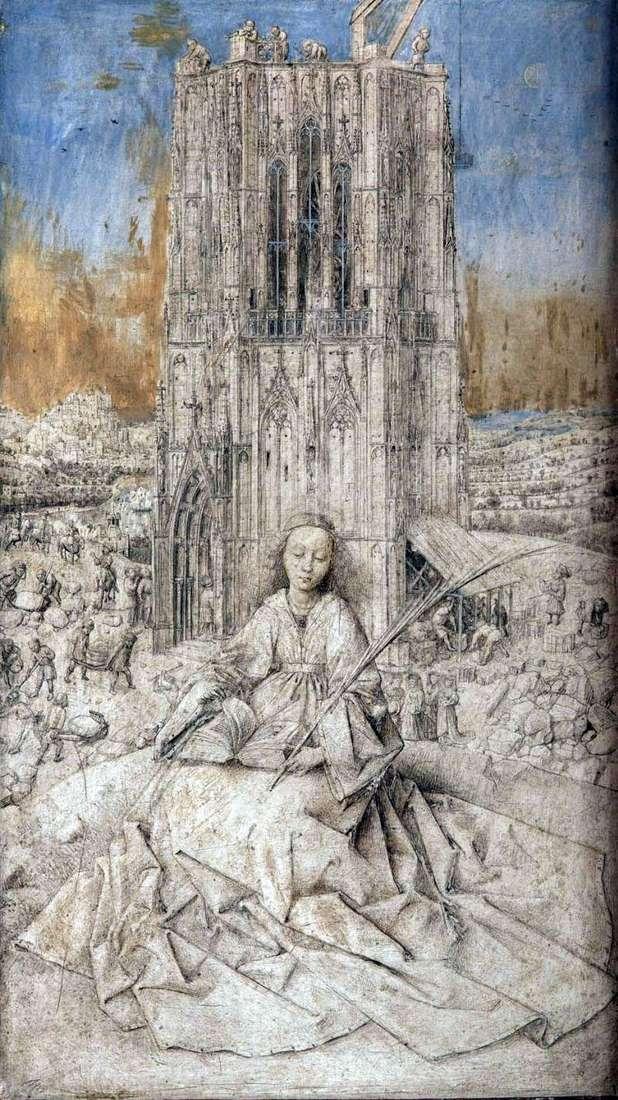 St. Barbara by Jan van Eyck