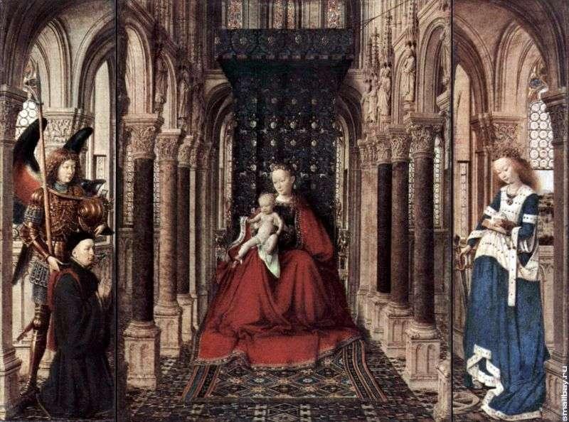 The altar of the Virgin Mary by Jan van Eyck