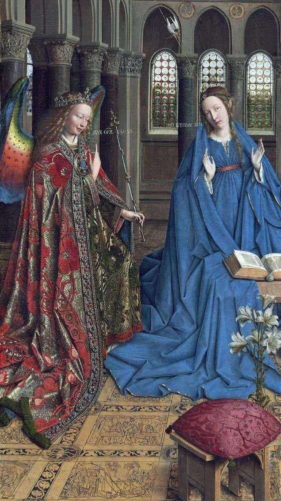 Annunciation by Jan van Eyck