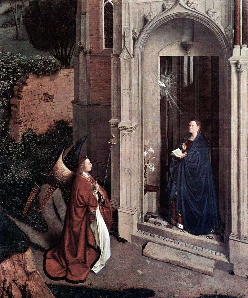The Annunciation at the Church by Jan van Eyck