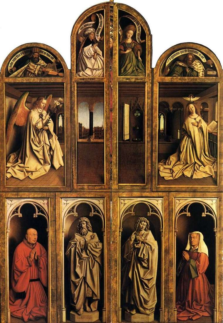 Ghent altar in the closed state by Jan van Eyck