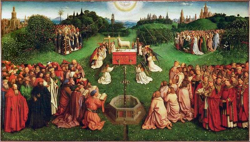 The Ghent Altar Worship of the Lamb by Jan van Eyck