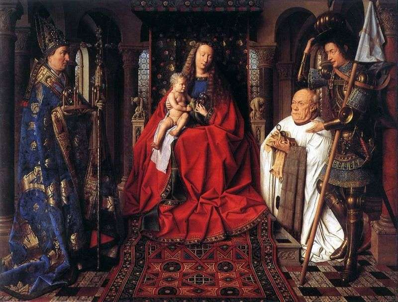 Madonna of the canon van der Palet by Jan van Eyck