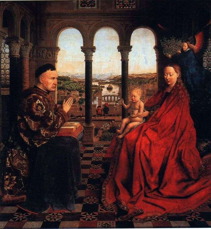 Madonna of Chancellor Rolen by Jan van Eyck