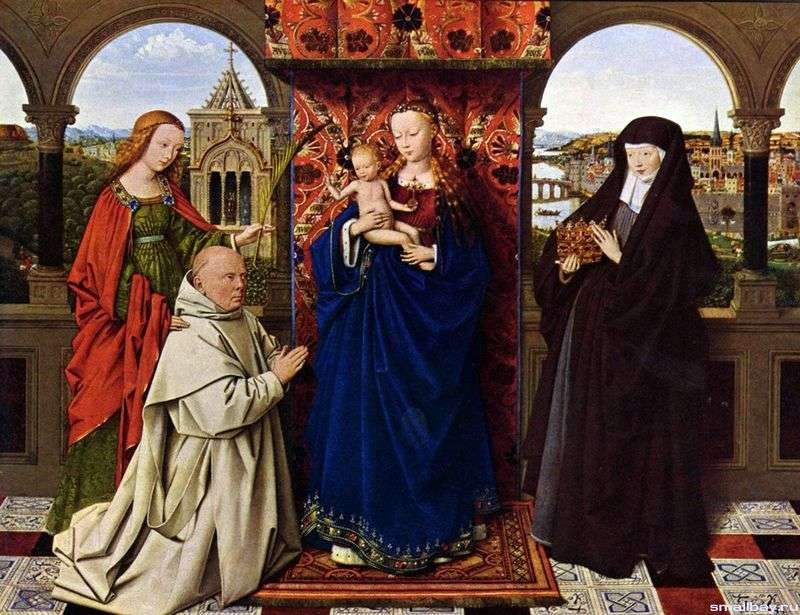 Madonna with the Cartesian monk by Jan van Eyck