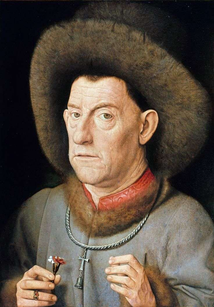 A man with a carnation by Jan van Eyck