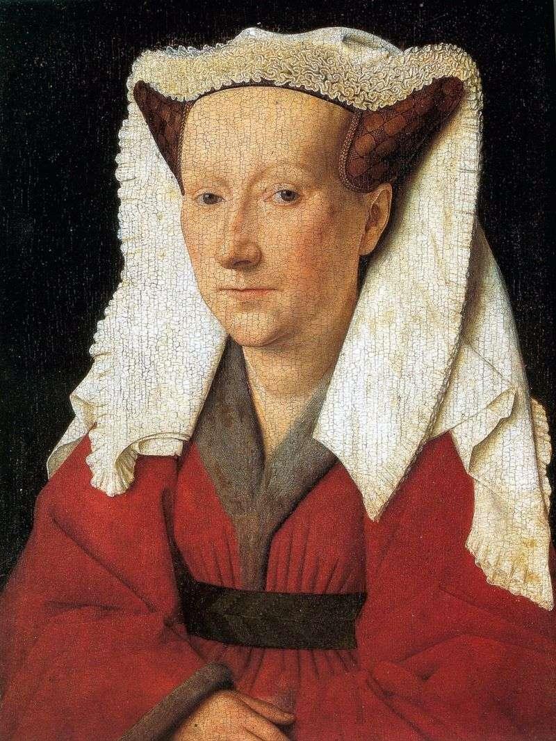 Portrait of Margret van Eycks wife by Jan van Eyck