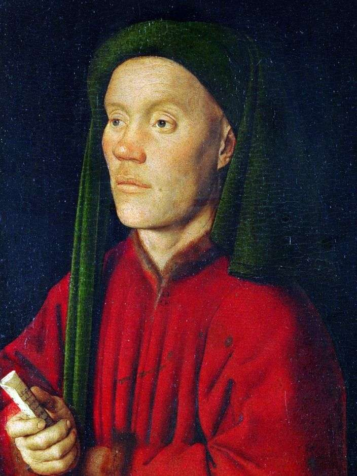Portrait of a young man (Timothy) by Jan van Eyck