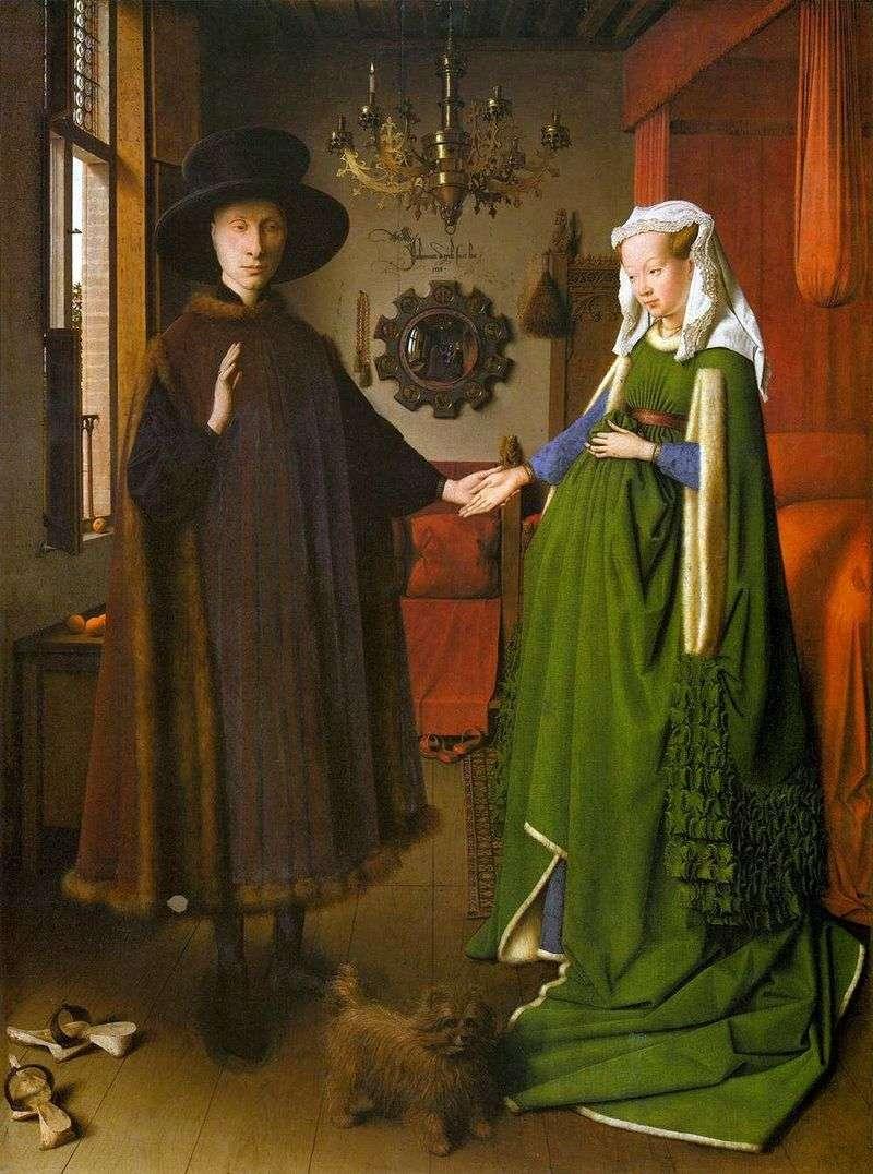 Portrait of the four Arnolfini by Jan van Eyck