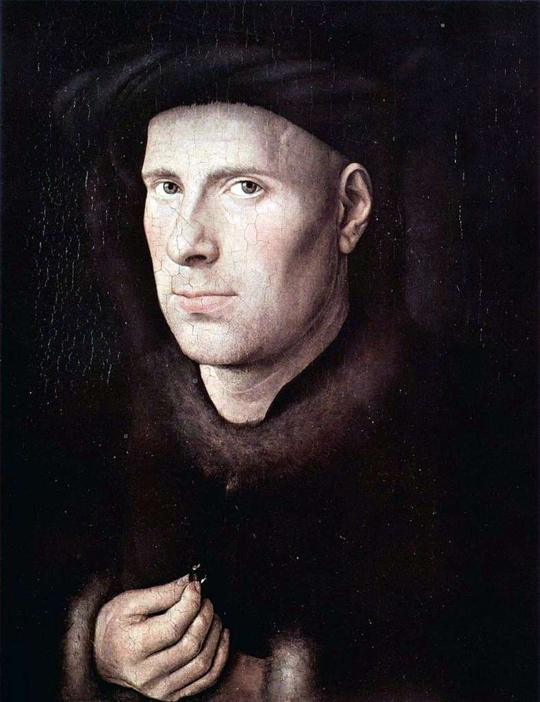 Portrait of Jan de Leuv by Jan van Eyck