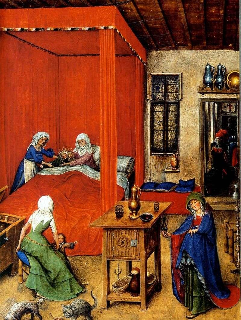 The Birth of John the Baptist by Jan van Eyck