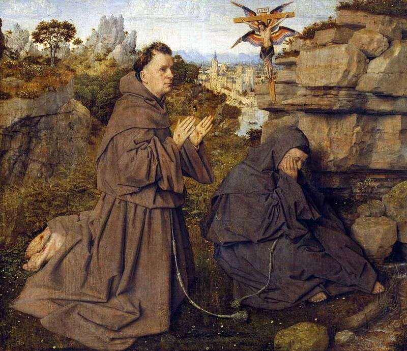 Stigmatization of St. Francis by Jan van Eyck