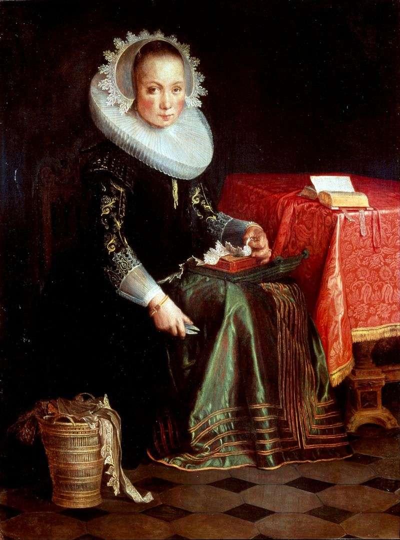 Portrait of Eva Eytival by Joachim Eytale