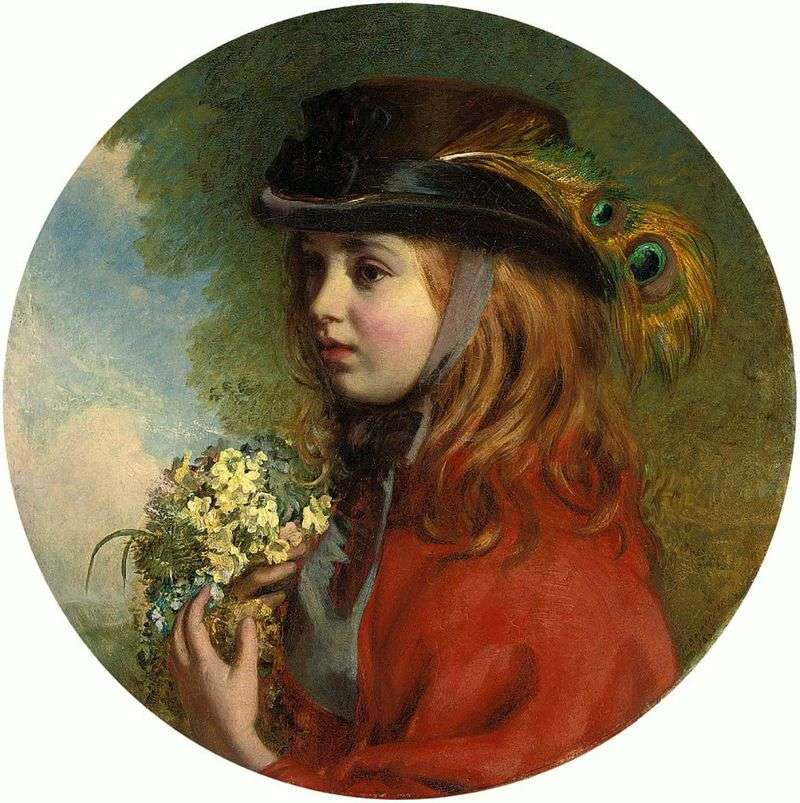 Spring (portrait of a girl with a bouquet) by Henry Hetherington Emmerson