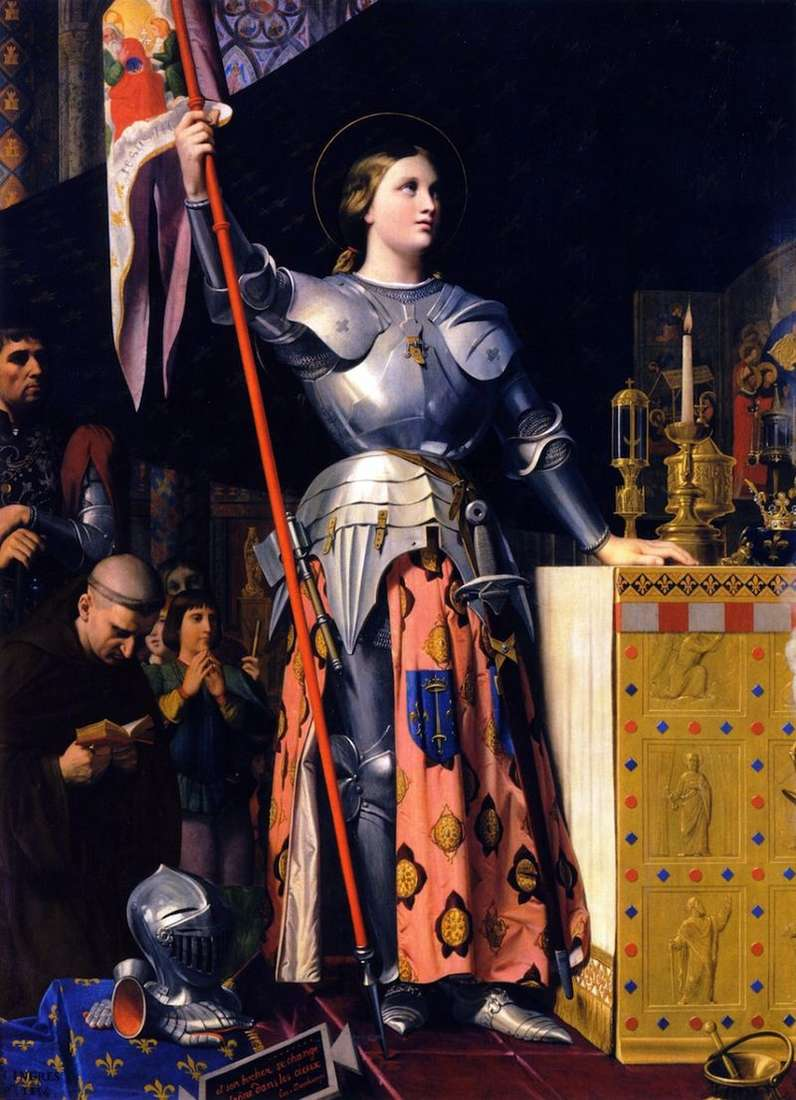 Joan of Arc on the coronation of Charles VII by Jean Auguste Dominique Ingres