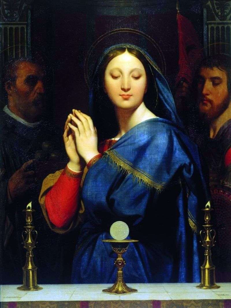 Madonna in front of a cup with participle by Jean Auguste Dominique Ingres