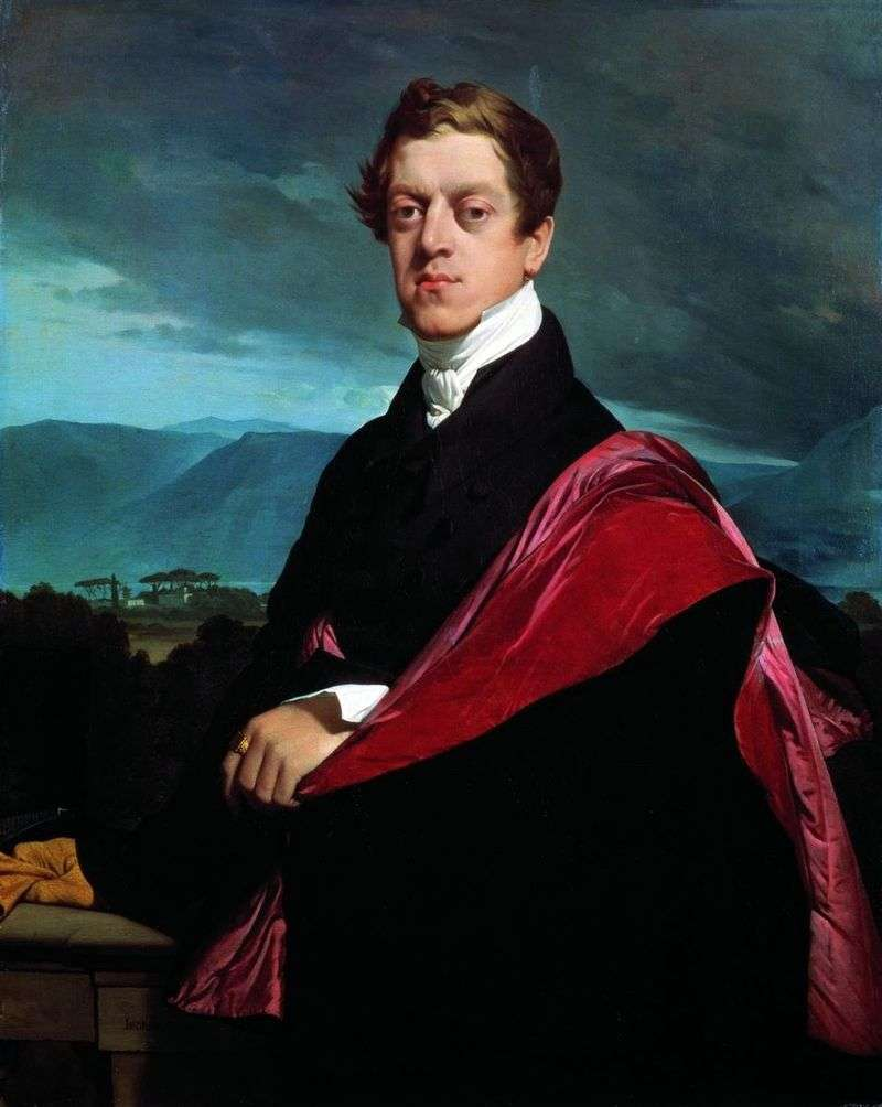 Portrait of Count ND Guriev by Jean Auguste Dominique Ingres