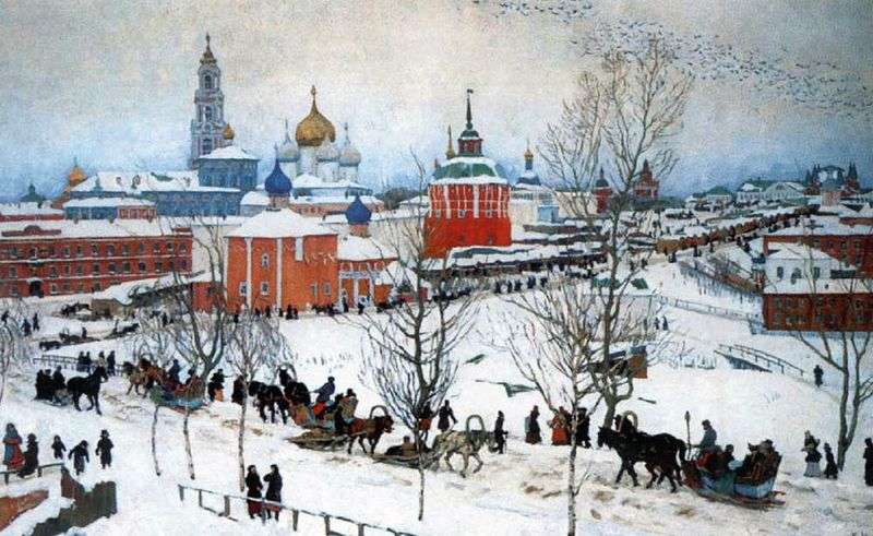 Winter. Rostov the Great by Konstantin Yuon