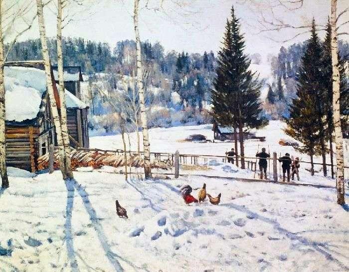End of winter. Noon. Ligachevo by Yuon Konstantin