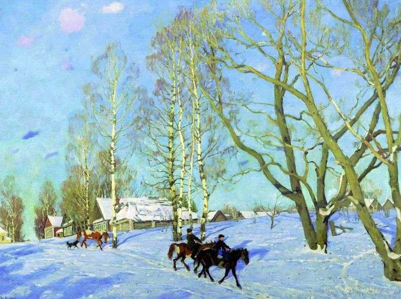The March sun by Konstantin Yuon