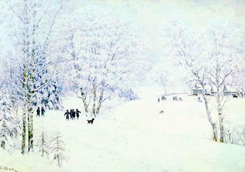 Russian Winter. Ligachevo by Konstantin Yuon