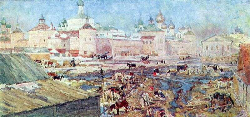 The blue day. Rostov the Great by Konstantin Yuon