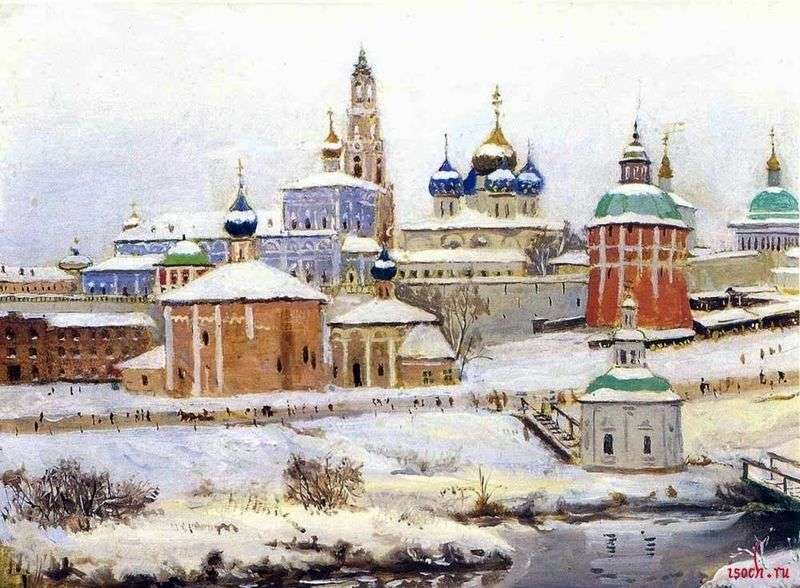 Trinity St. Sergius Lavra in Winter by Konstantin Yuon