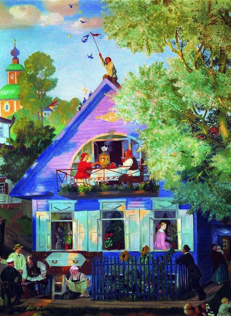 Blue House by Boris Kustodiev